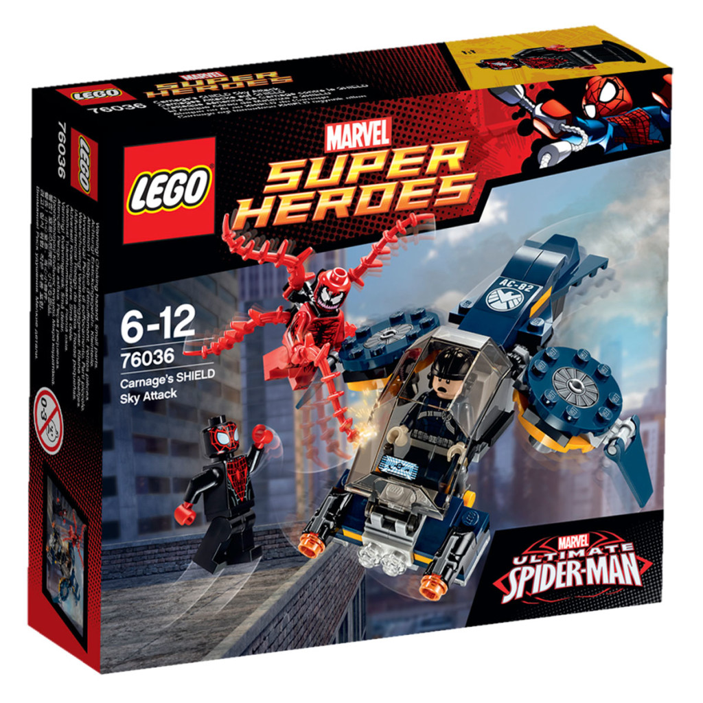 LEGO 76036 Carnage SHIELD Sky Attack - Box