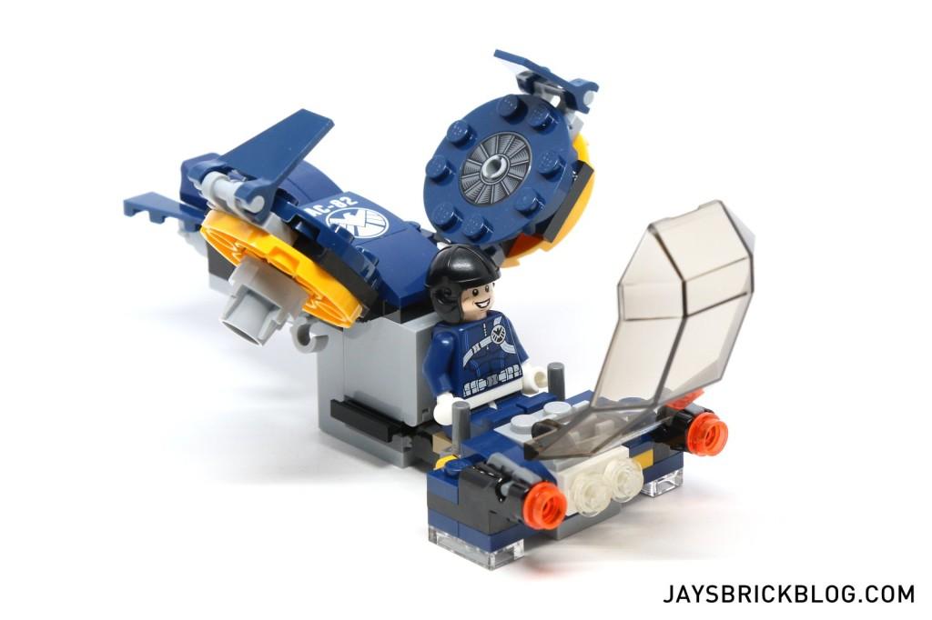 LEGO 76036 Carnage SHIELD Sky Attack - SHIELD Jet Cockpit Open