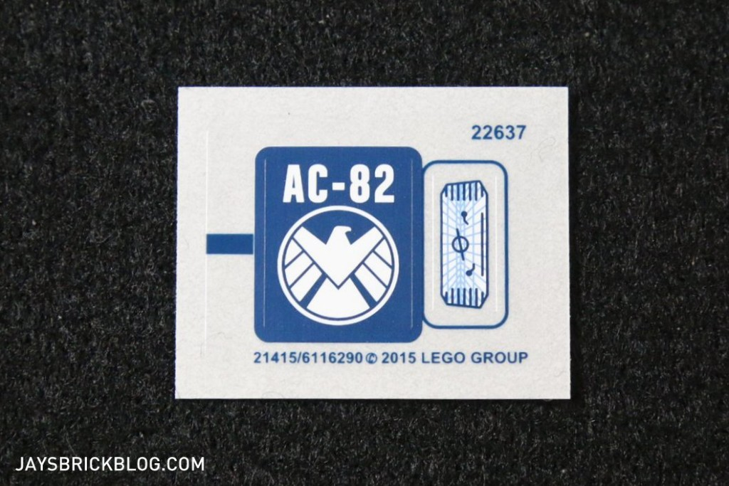 LEGO 76036 Carnage SHIELD Sky Attack - Sticker Sheet