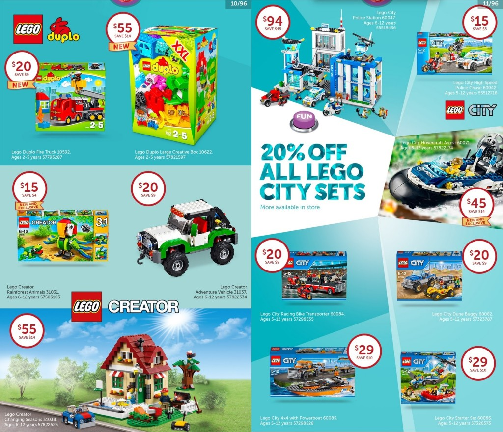 Target Toy Sale 2015 - LEGO Creator & City Deals