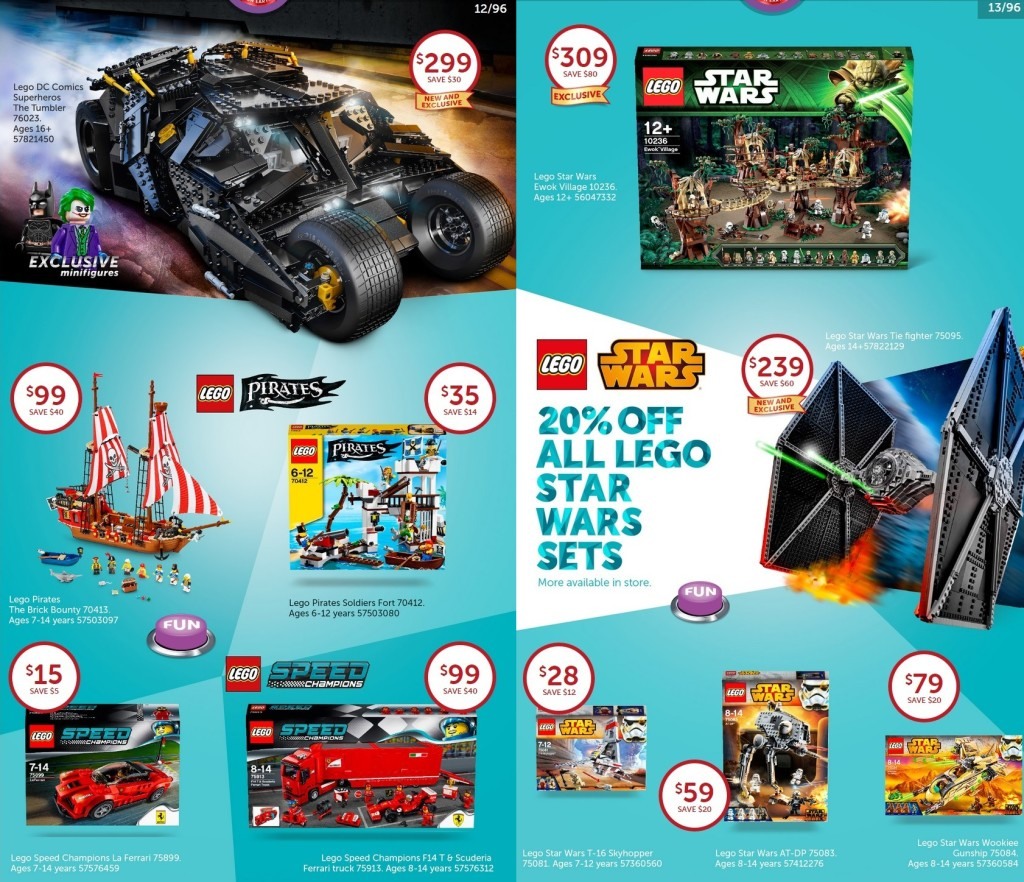 Australian LEGO Sales July 2015 – Target Toy Sale Edition