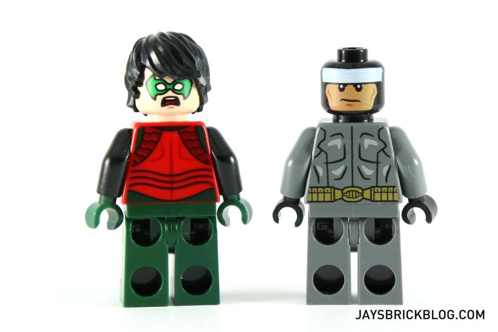 LEGO 76034 The Batboat Harbour Pursuit - Batman and Robin Alternate Face Print