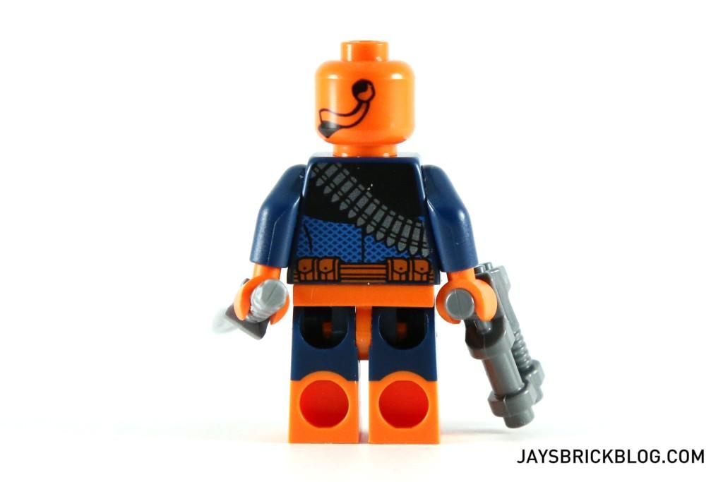 LEGO 76034 The Batboat Harbour Pursuit - Deathstroke Minifg Back Printing