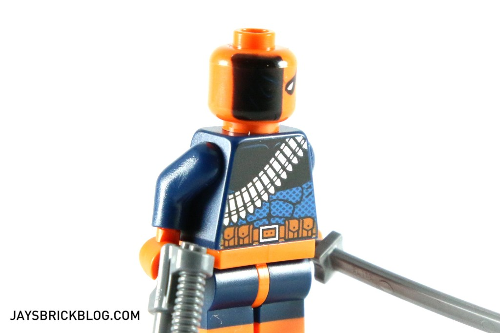 LEGO 76034 The Batboat Harbour Pursuit - Deathstroke Minifig Head Printing