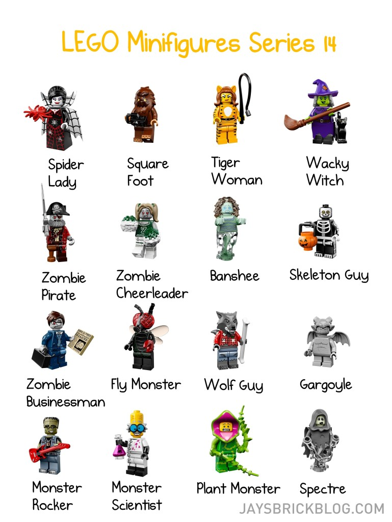 LEGO Minifigures Series 14 Checklist - Character Names