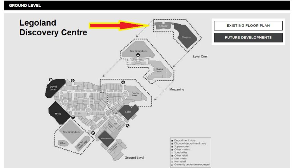 Legoland Discovery Centre Location Chadstone
