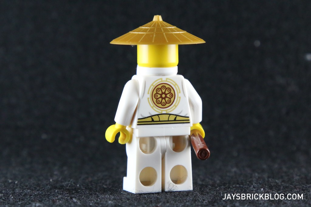Ninjago Secret World of the Ninja - Sensei Wu Minifig Back Printing