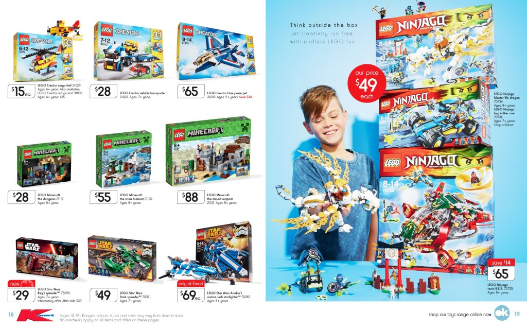 Kmart LEGO Catalogue Sale September 2015 2