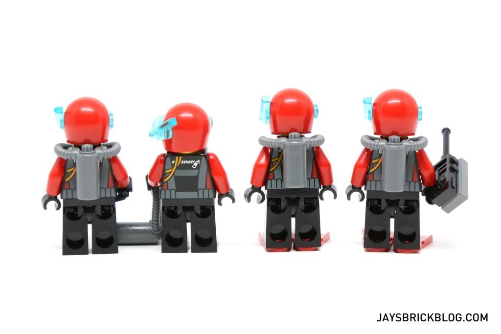 LEGO 60095 Deep Sea Exploration Vessel - Diver Minifigures Back