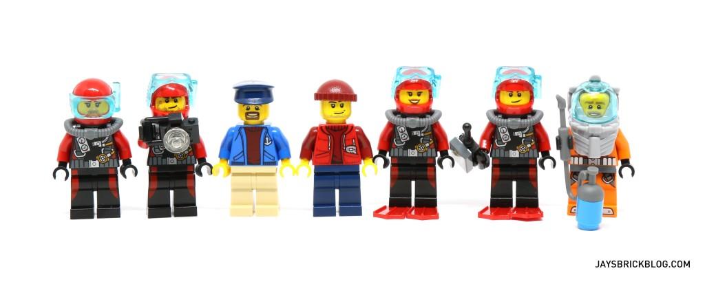 LEGO 60095 Deep Sea Exploration Vessel - Minifigures