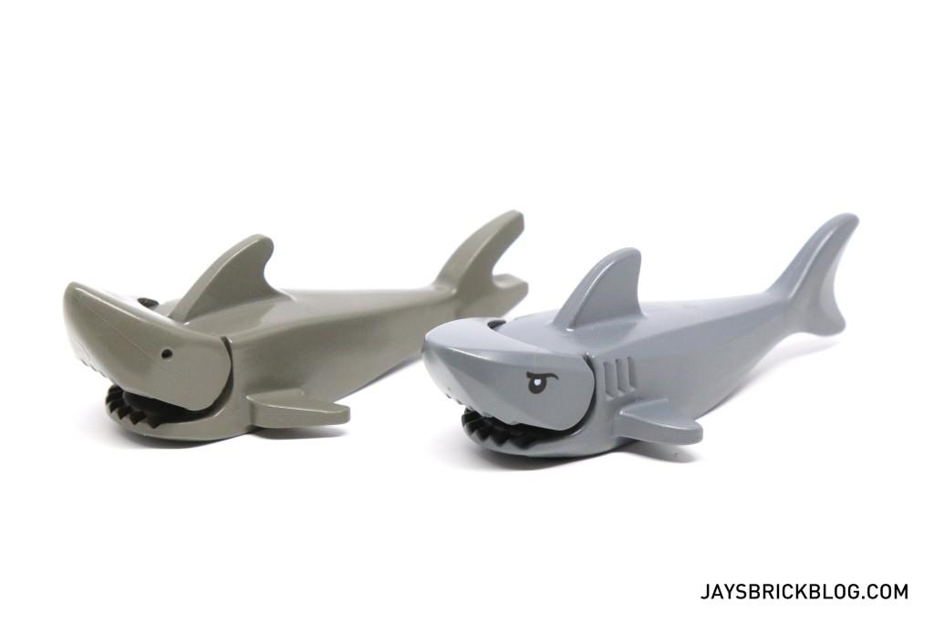 LEGO 60095 Deep Sea Exploration Vessel - Old vs New Shark
