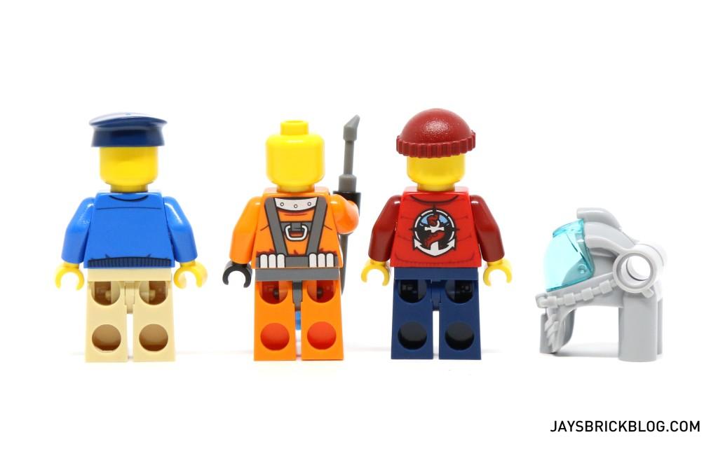 LEGO 60095 Deep Sea Exploration Vessel - Ship Crew Minifigs Back