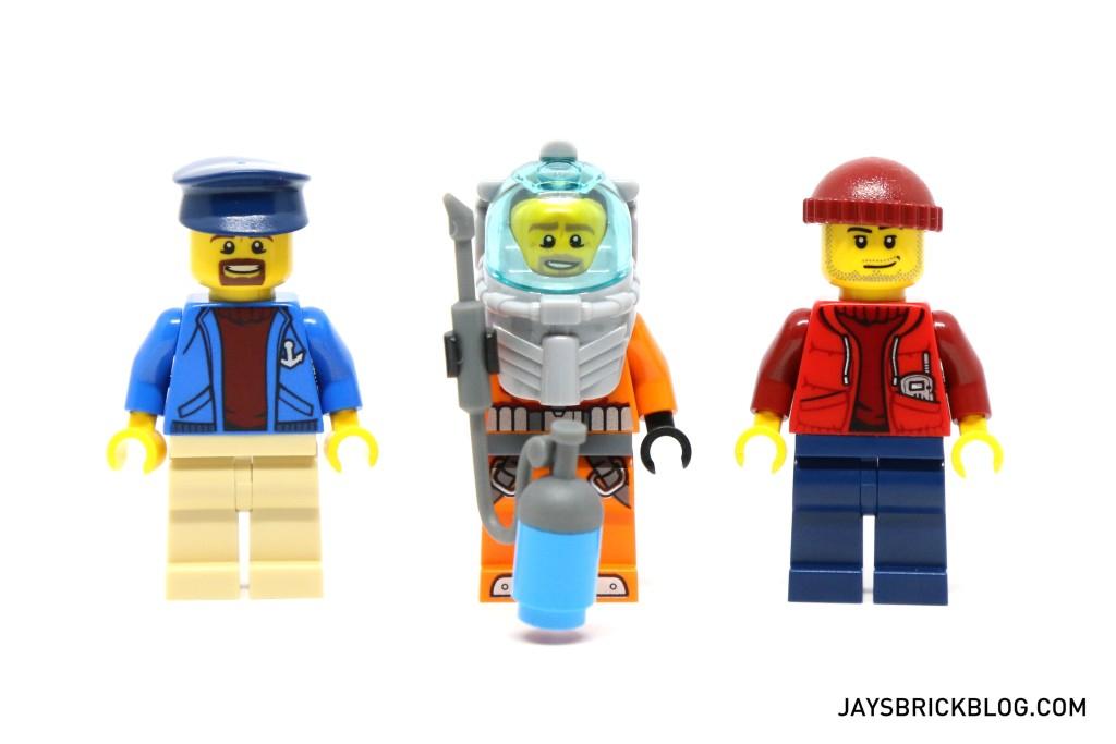 LEGO 60095 Deep Sea Exploration Vessel - Ship Crew Minifigures