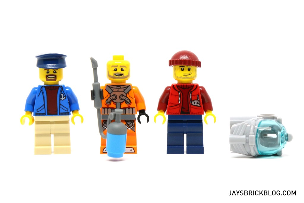 LEGO 60095 Deep Sea Exploration Vessel - Ship Crew Minifigures and Diver