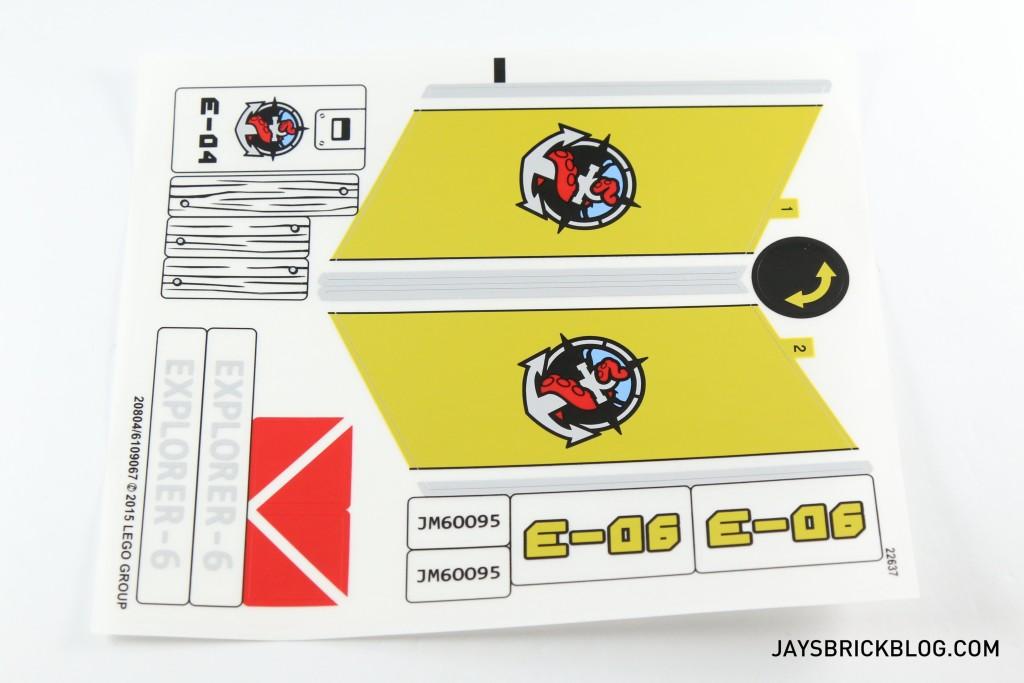 LEGO 60095 Deep Sea Exploration Vessel - Sticker Sheet