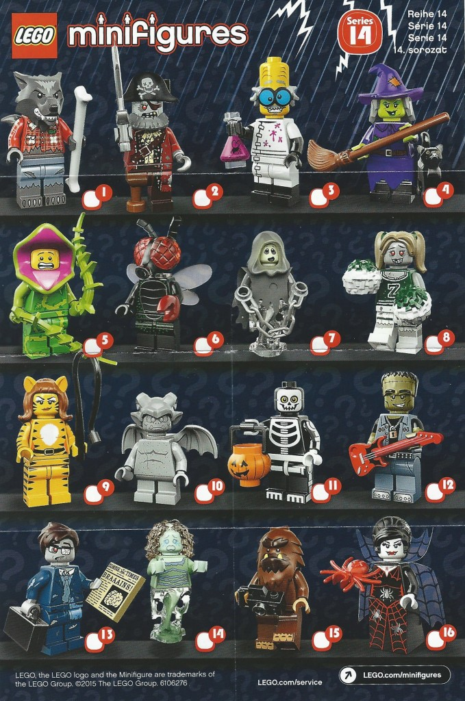 LEGO Minifigures Series 14 Character Checklist