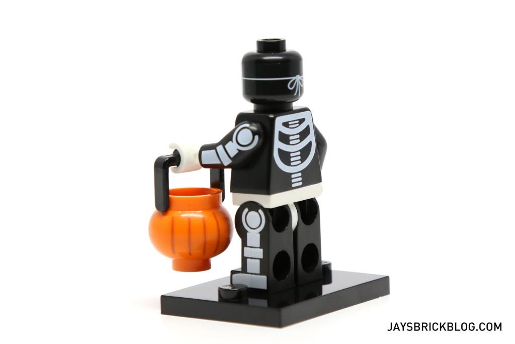 LEGO Minifigures Series 14 - Skeleton Guy Minifig Back Printing