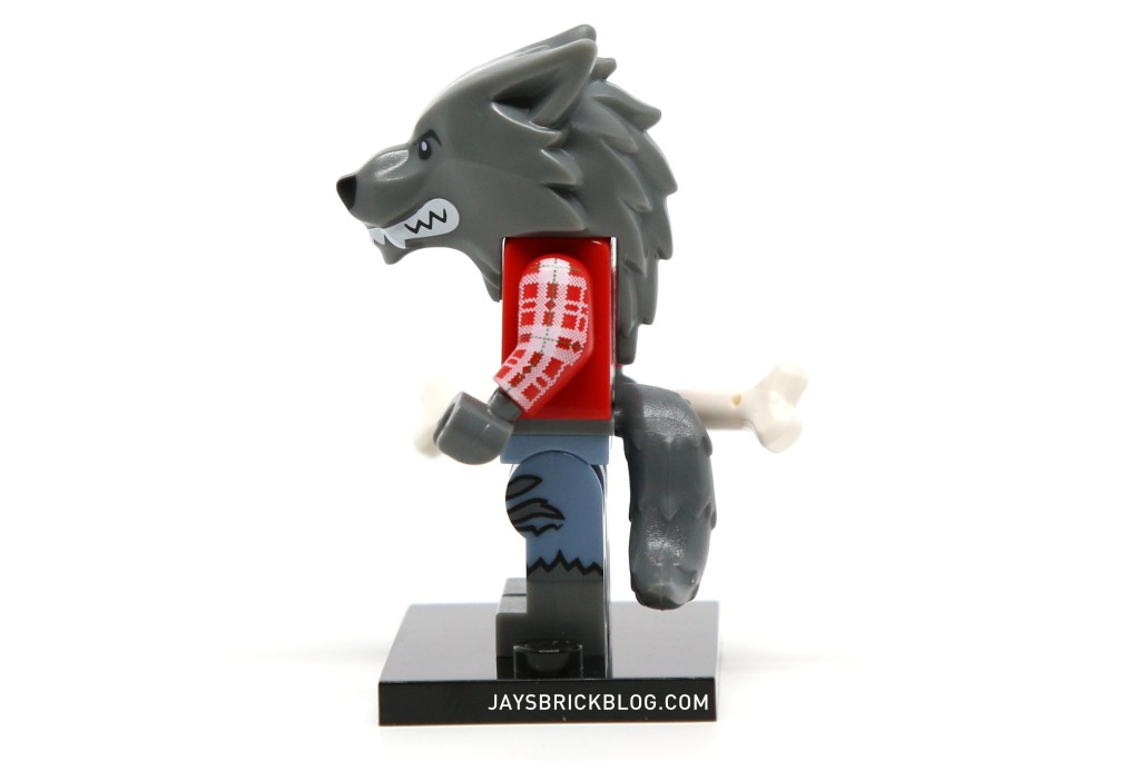 LEGO Minifigures Series 14 - Wolf Guy Minifig Side View