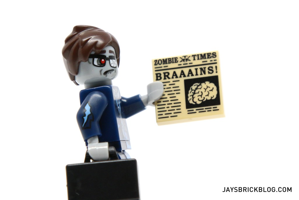 LEGO Minifigures Series 14 - Zombie Businessman Newspaper Tile