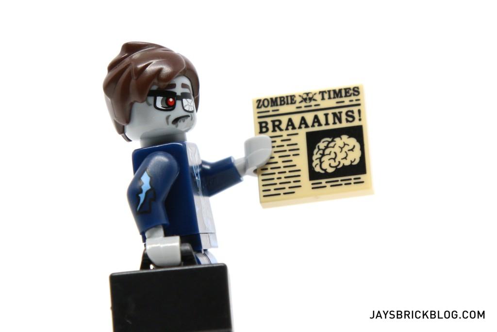 LEGO Minifigures Series 14 - Zombie Businessman Newspaper Tile