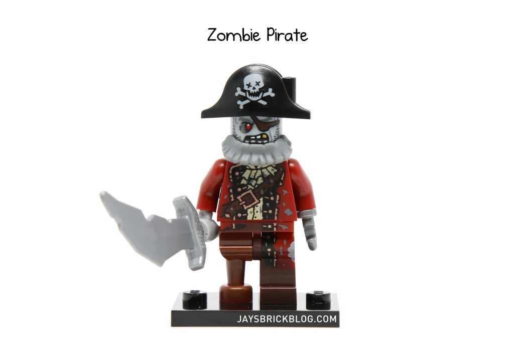 genuine lego minifigures the zombie pirate  from series 14