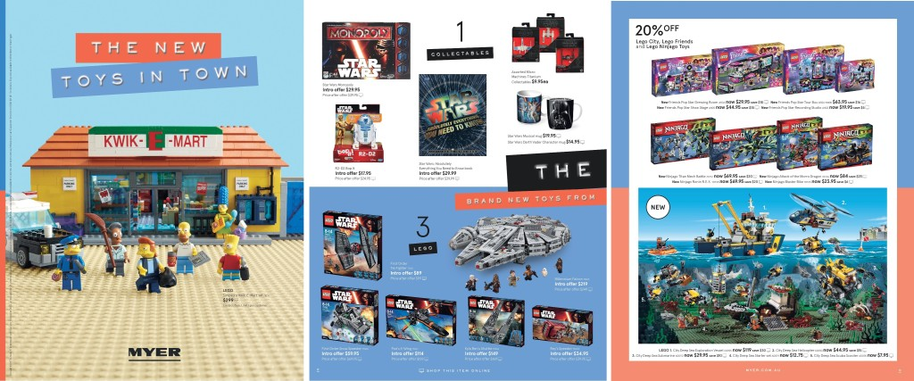 Myer LEGO Catalogue Sale September 2015
