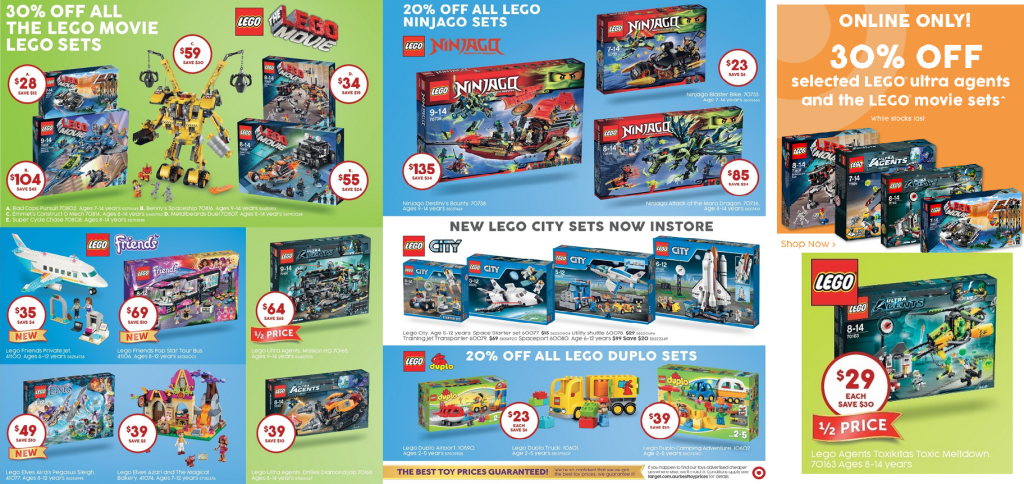 Target LEGO Catalogue Sale September 2015