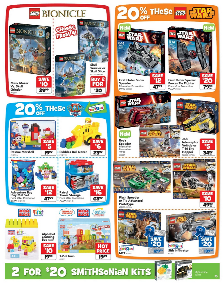 Toys R Us LEGO Catalogue Sale September 2015
