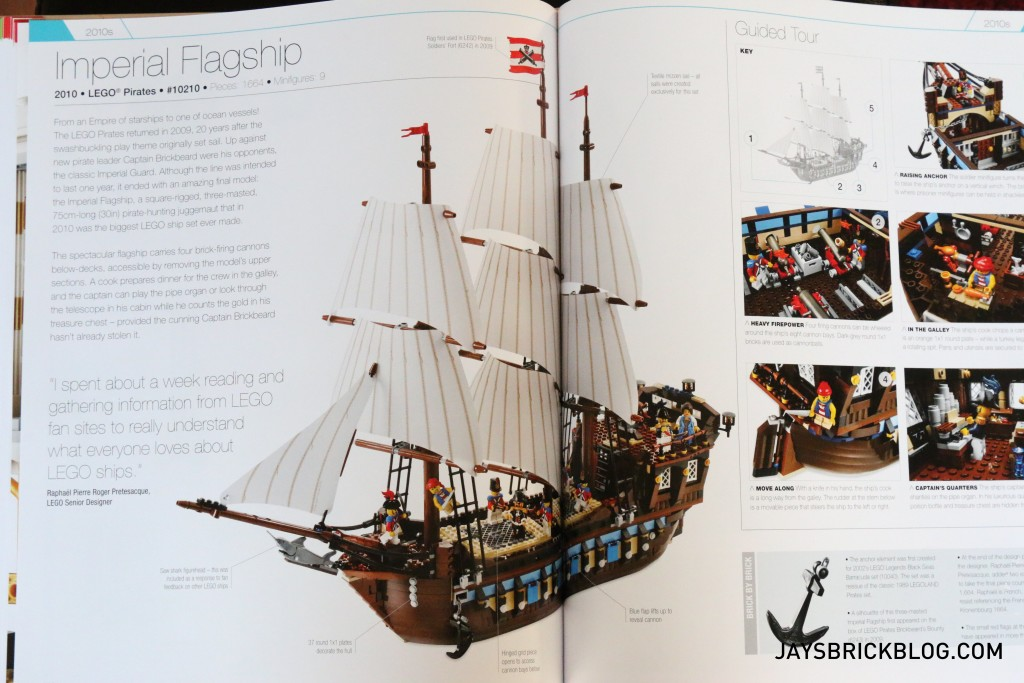 DK Great LEGO Sets Book - Imperial Flagship Page