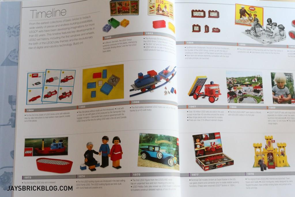 DK Great LEGO Sets Book - Timeline of Sets
