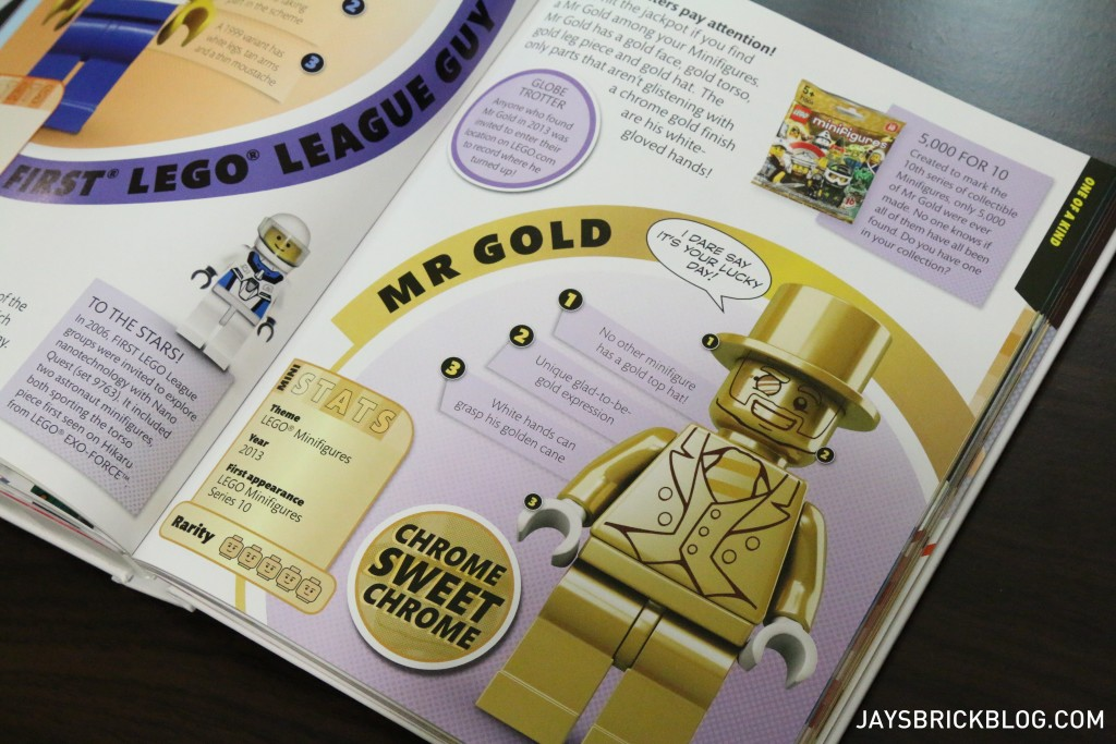 DK I Love That Minifigure - Mr Gold Page