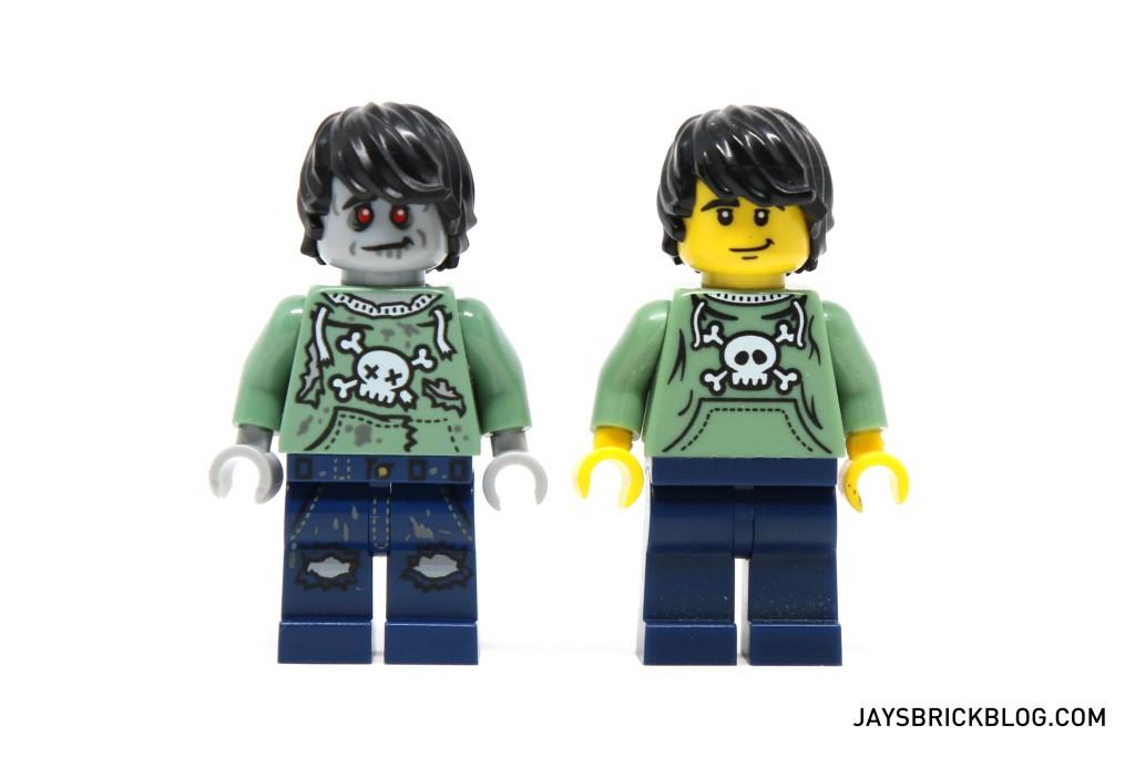 DK I Love That Minifigure - Skateboard Comparison Original vs Zombie
