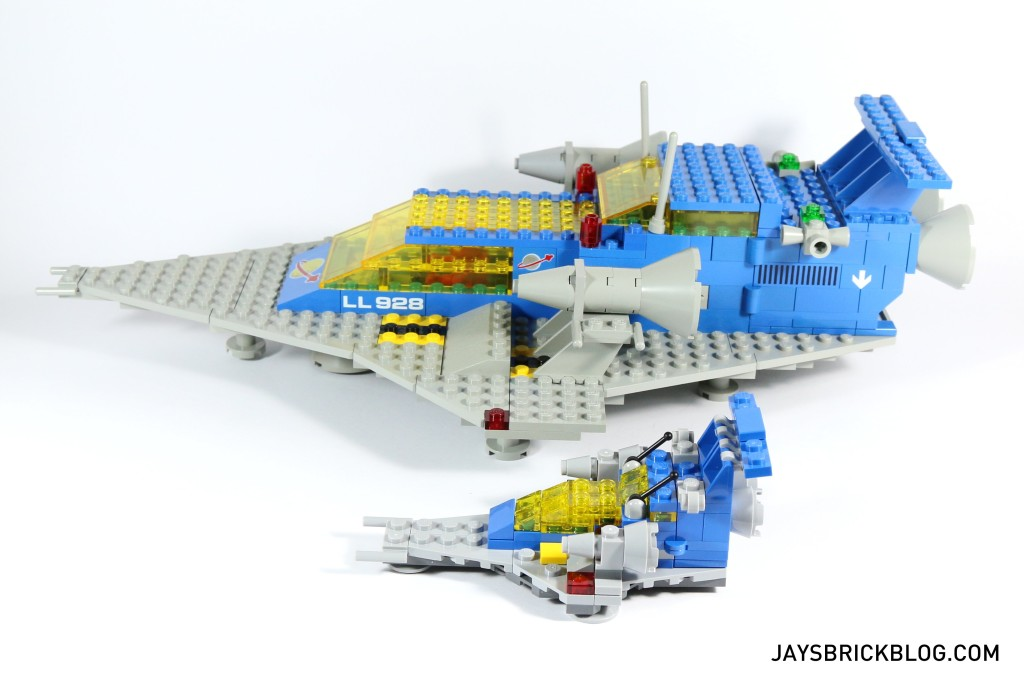 LEGO 11910 Micro Space Cruiser - Side Comparison with Original