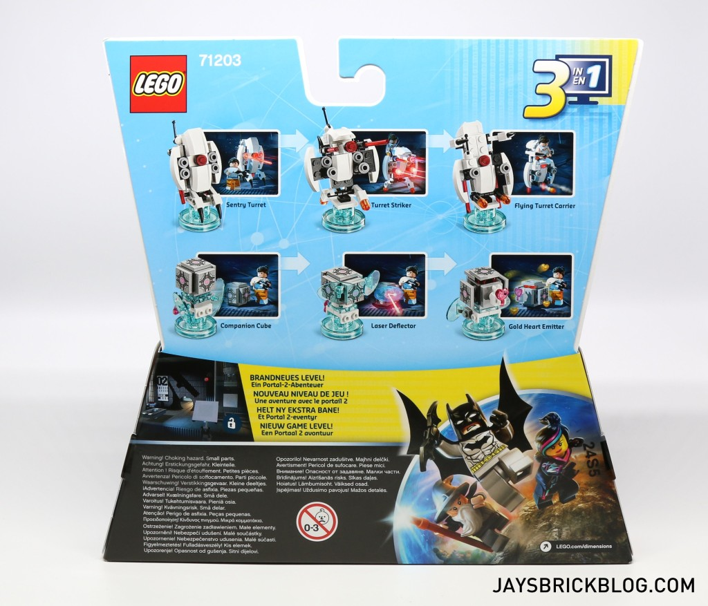 LEGO 71203 Portal Level Pack - Back of Box