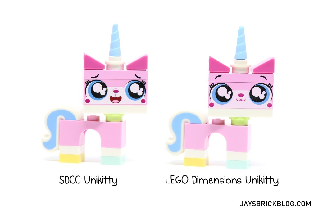 71231 LEGO Dimensions Unikitty Fun Pack - Comparison with SDCC Unikitty