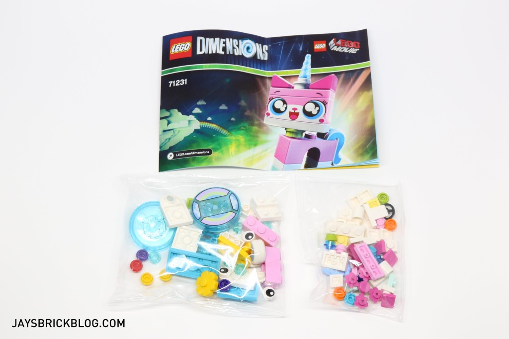 71231 LEGO Dimensions Unikitty Fun Pack - Contents