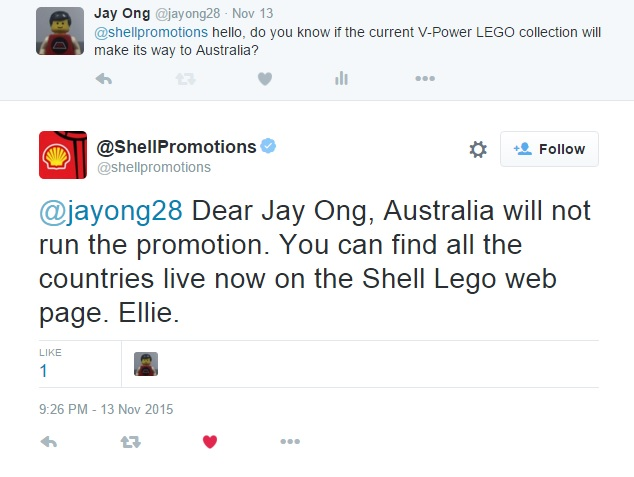 Confirmation from Shell Promotions