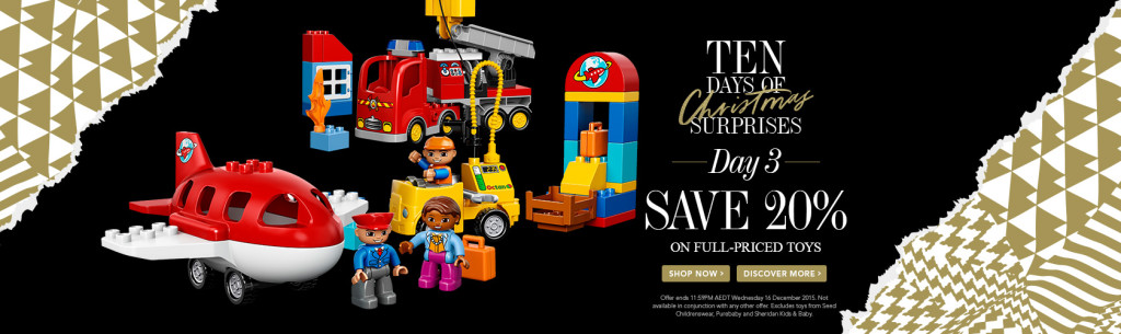 David Jones LEGO Sale 16 December