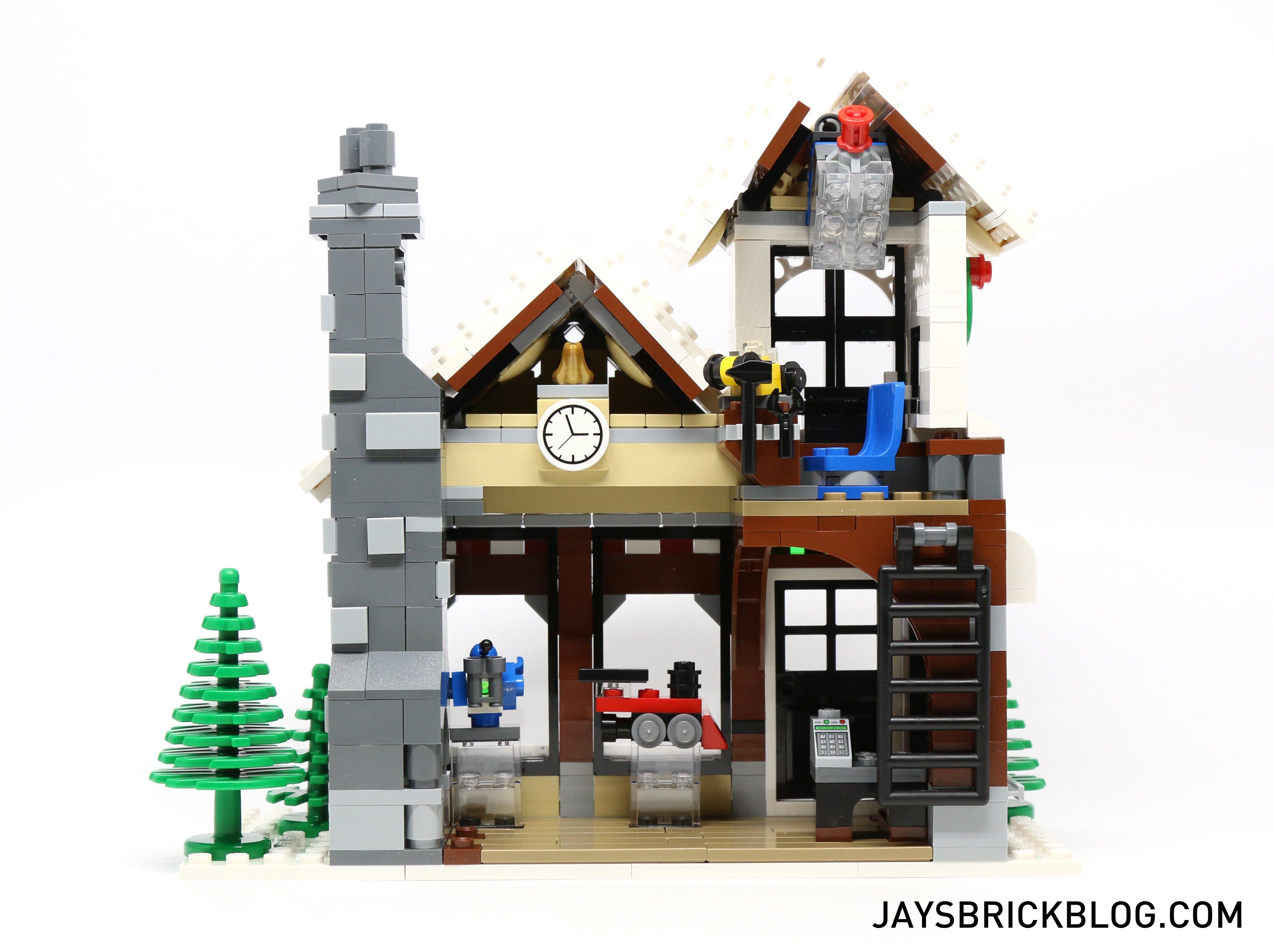 LEGO 10249 Winter Village Toy Shop - Back View