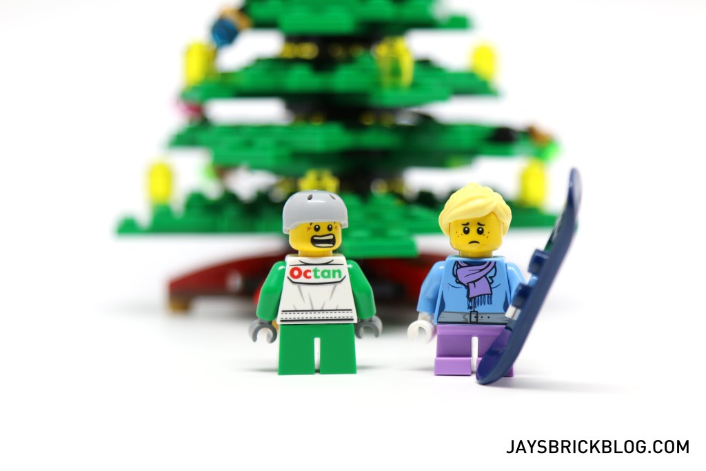 LEGO 10249 Winter Village Toy Shop - Kids with Alternate Faces