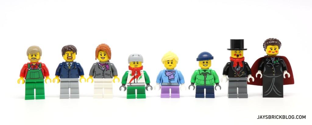 LEGO 10249 Winter Village Toy Shop - Minifigures