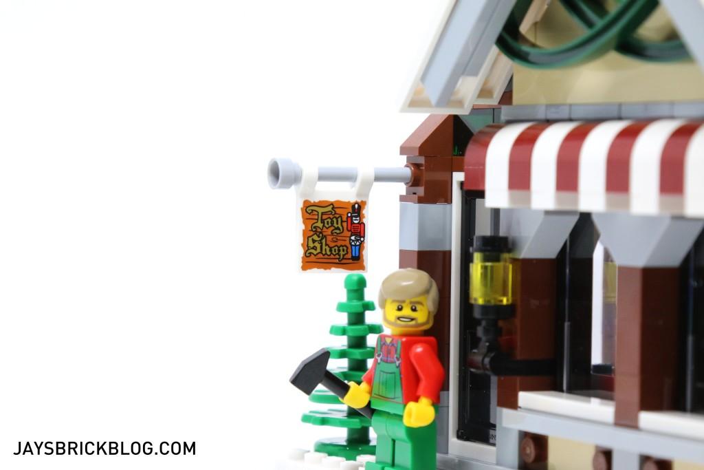 LEGO 10249 Winter Village Toy Shop - Printed Sign