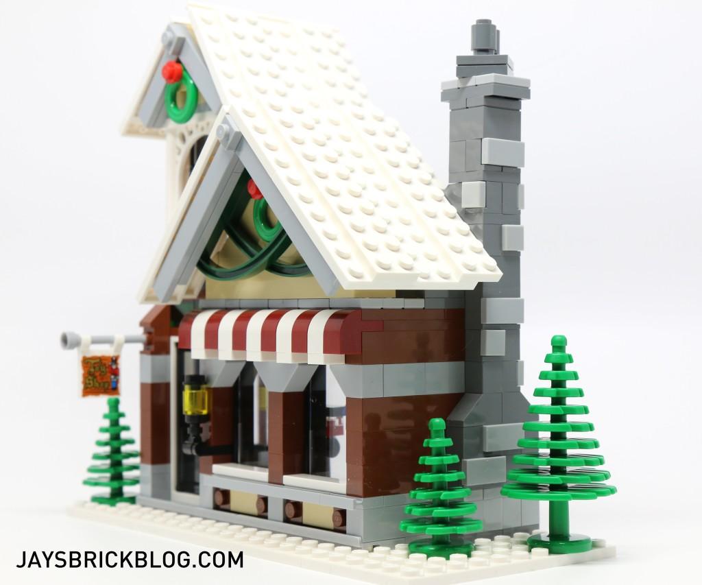 LEGO 10249 Winter Village Toy Shop - Side View