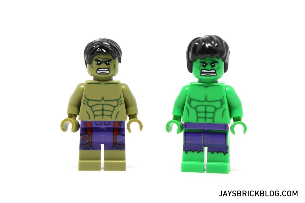 LEGO 5003084 The Hulk Polybag 2015 - Comparison with old Mini Hulk
