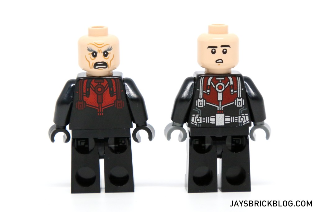 LEGO 76039 Ant-Man Final Battle - Scott Lang and Hank Pym Alternate Faces