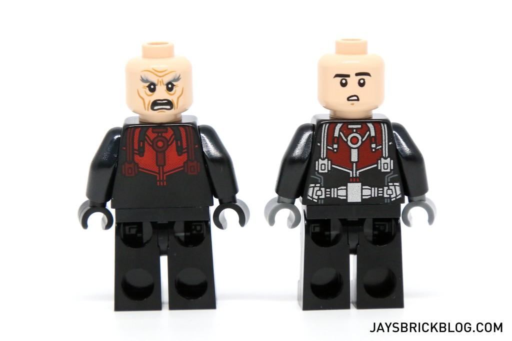 LEGO 76039 Ant-Man Final Battle - Scott Lang and Hank Pym Alternate Faces