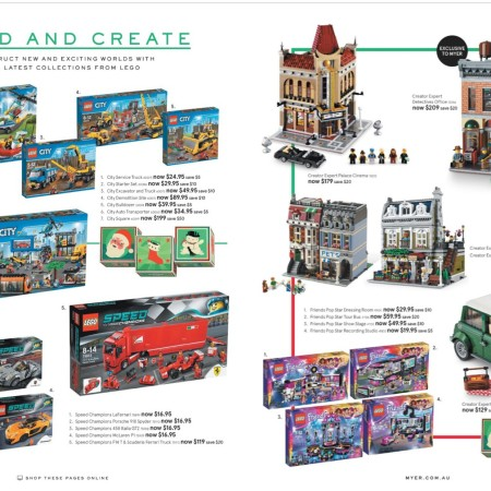Myer LEGO Catalogue Sale December 2015