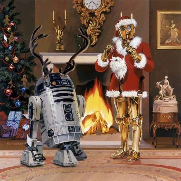 1979 Lucasfilm Christmas Card Ralph McQuarrie