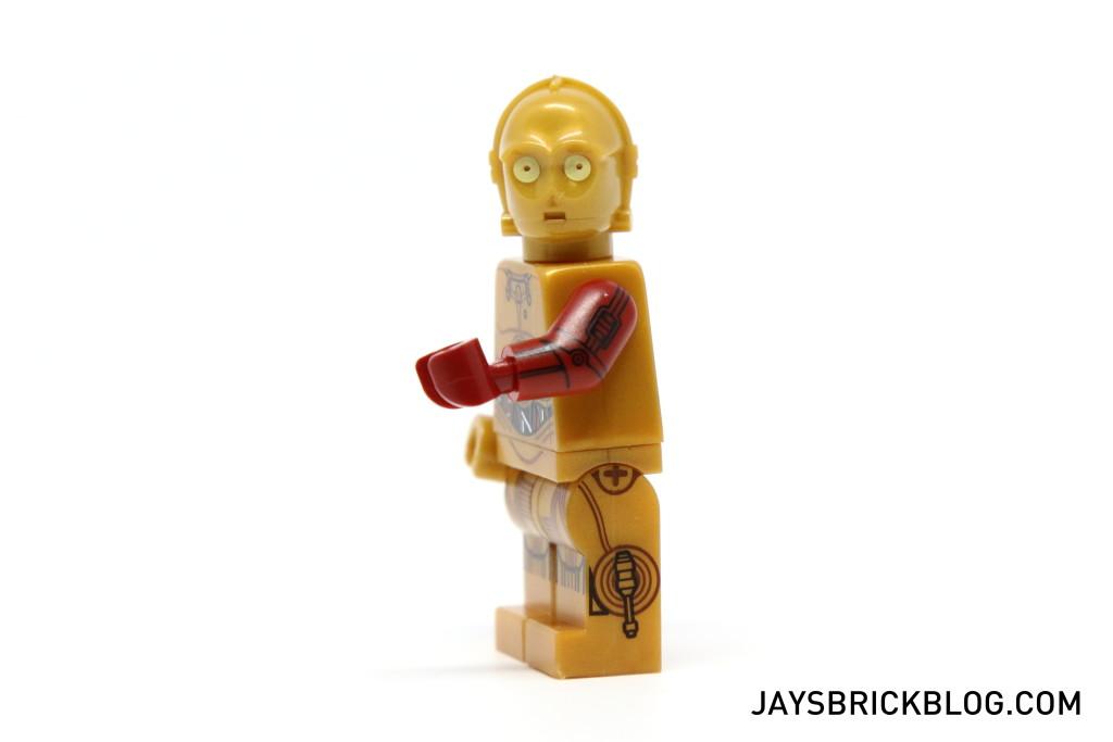 LEGO 5002948 C-3PO Force Awakens - C3PO Minifigure Red Arm