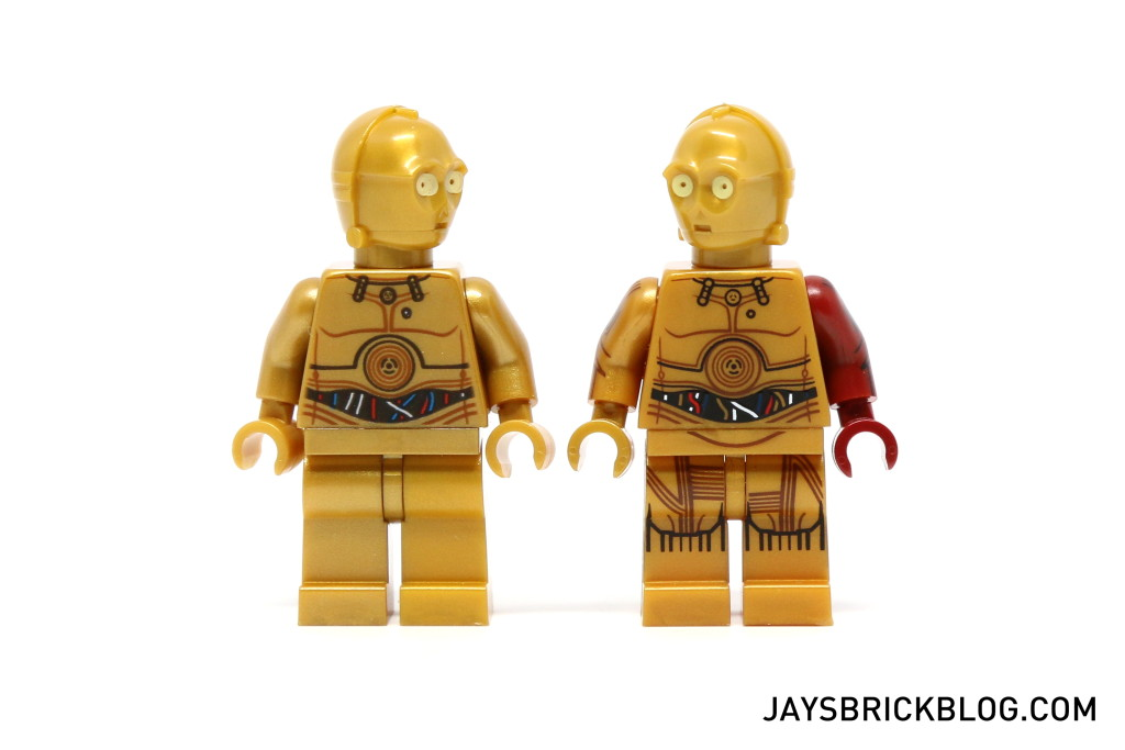 LEGO 5002948 C-3PO Force Awakens - C3PO comparison old vs new